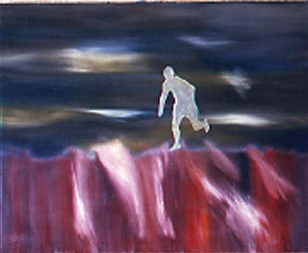 Läufer, 80 x 100 , Öl auf Textil, 1982