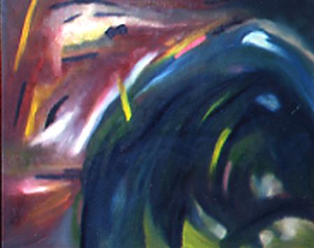 Welle, 80 x 100 , Öl auf Textil, 1982