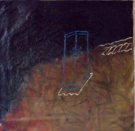 Schornstein, 100 x 100 , Öl auf Textil, 1984