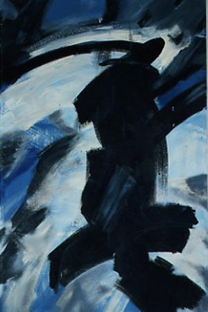 Matrose, 70 x 110 , Öl auf Textil, 1986