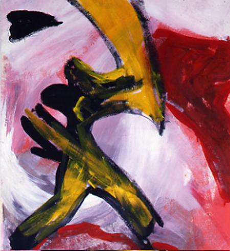 Traumtänzer, 60 x 80 , Öl auf Textil, 1986