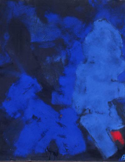 Nr.1 o.T., 110 x 130 , Pigment auf Öl-Firnis auf Textil, 1987