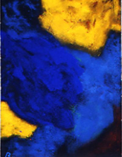Nr.2 o.T., 110 x 130 , Pigment auf Öl-Firnis auf Textil, 1987