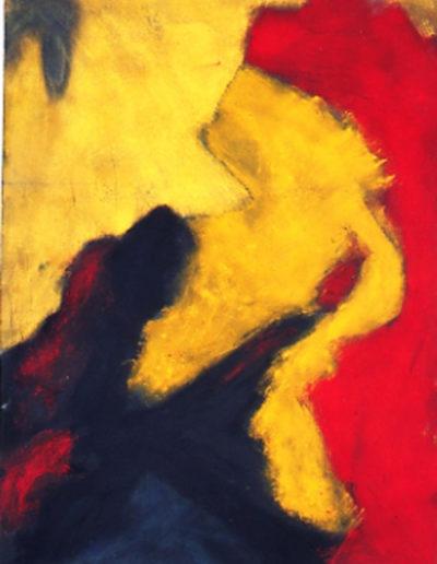 """Nr.3 o.T., 90 x 130 , Pigment auf Öl-Firnis auf Textil, 1987"