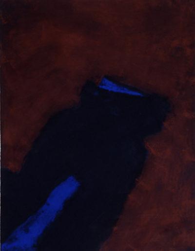 Nr.1 o.T., 80 x 110 , Pigment auf Öl-Firnis auf Textil, 1988