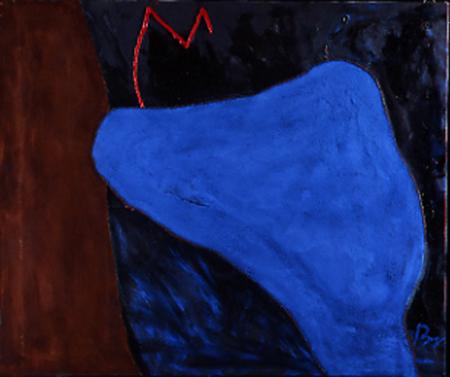 Nr. 1 o.T., 100 x 120 , Pigment auf Öl-Firnis auf Textil, 1989