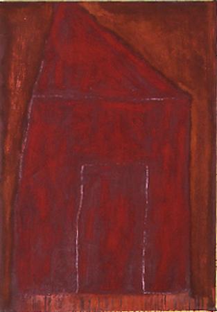 Nr. 6 o.T., 70 x 120 , Pigment auf Öl-Firnis auf Textil, 1991