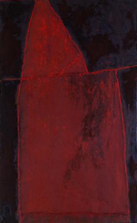 Nr. 7 o.T., 70 x 90 , Pigment auf Öl-Firnis auf Textil, 1991
