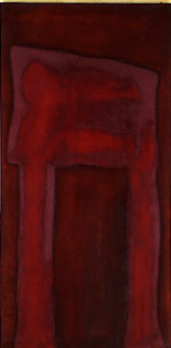 Nr. 9 o.T., 70 x 140 , Pigment auf Öl-Firnis auf Textil, 1991