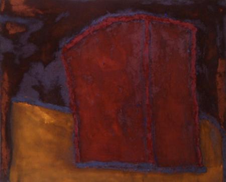 Nr. 4 o.T., 100 x 120 , Pigment auf Öl-Firnis auf Textil, 1991