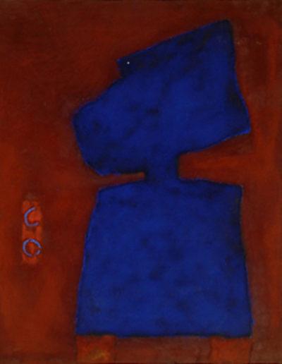 Nr. 5 o.T., 100 x 120 , Pigment auf Öl-Firnis auf Textil, 1991