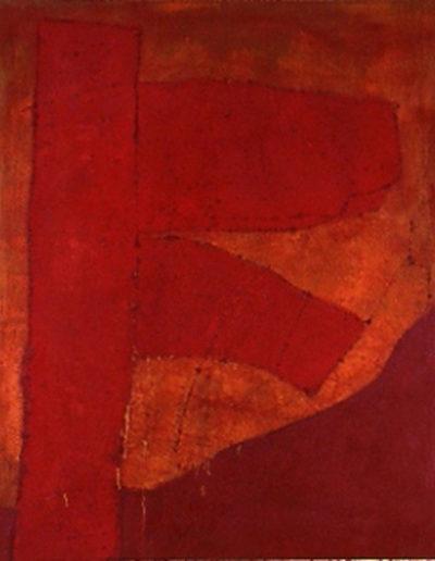 Nr. 3 o.T., 100 x 120 , Pigment auf Öl-Firnis auf Textil, 1992