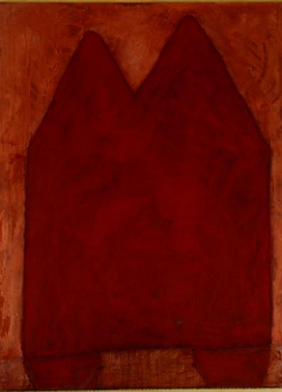 Nr. 2 o.T., 100 x 130 , Pigment auf Öl-Firnis auf Textil, 1992