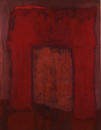 Nr. 1 o.T., 100 x 130 , Pigment auf Öl-Firnis auf Textil, 1992