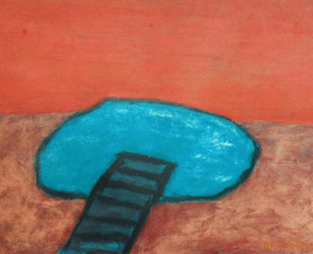 Teich, 120 x 150 , Acryl auf Hartfaser, 1996