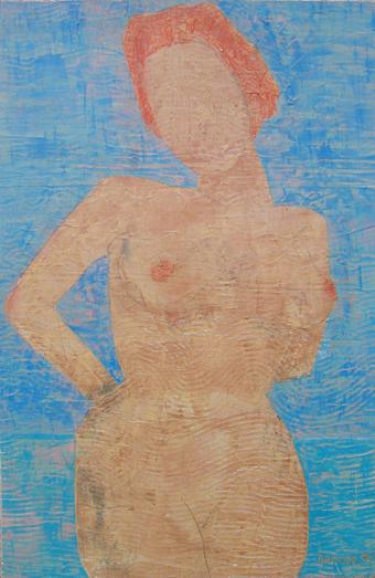 """ackte*, 75 x 110 , Acryl auf Hartfaser, 1996"""""""