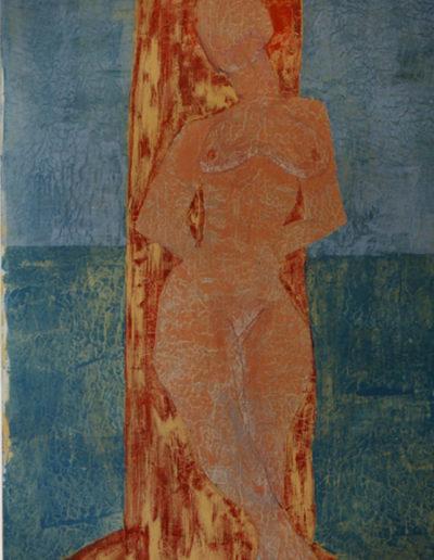 Nackte Frau, 120 x 150 , Acryl auf Hartfaser, 1996