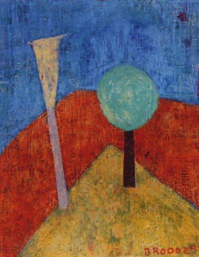 Ecke im Park, 120 x 150 , Acryl auf Hartfaser, 1997