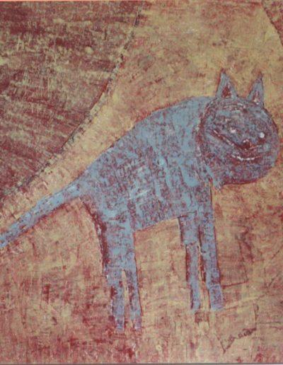 Kater, 100 x 100 , Acryl auf Hartfaser, 1997