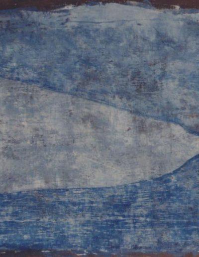 Fisch, 90 x 180 , Acryl auf Textil, 1997