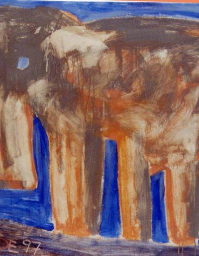 Tier, 100 x 120 , Acryl auf Textil, 1997
