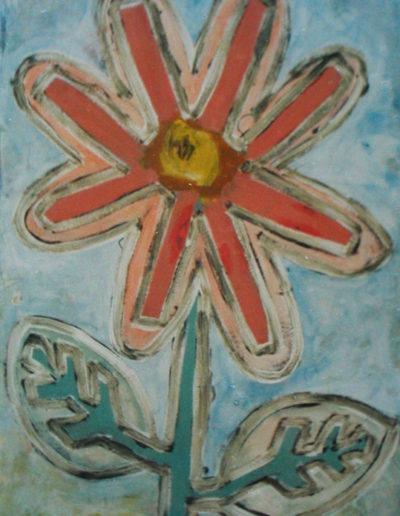 Blume, 70 x 110 , Acryl auf Hartfaser, 1998