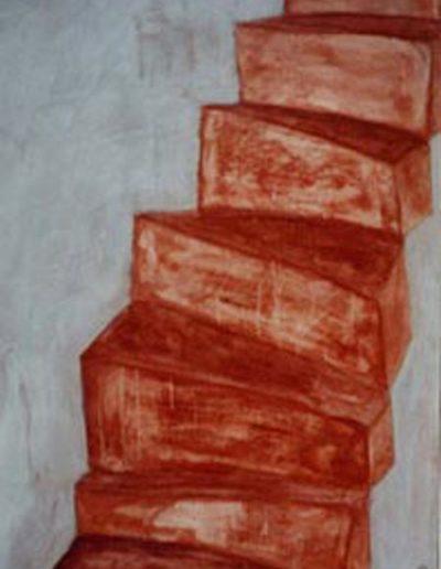Treppe, 80 x 110 , Acryl auf Textil, 1999