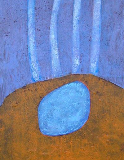 Strahlen, 70 x 140 , Acryl auf Textil, 1999