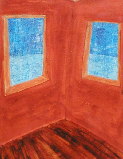 Aussicht mit Fußboden, 80x110, Acryl auf Textil, 1999