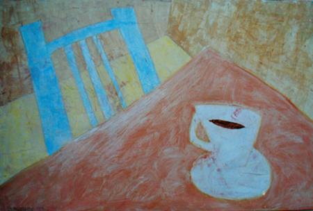 assen Stuhl, 80 x 110 , Acryl auf Hartfaser, 1999