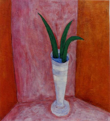 Vase, 100 x 110 , Acryl auf Textil, 1999
