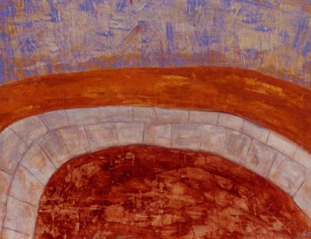 Weg, 80 x 110 , Acryl auf Textil, 1999