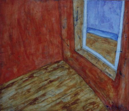 Aussicht Strand, 110 x 130 , Acryl auf Textil, 1999