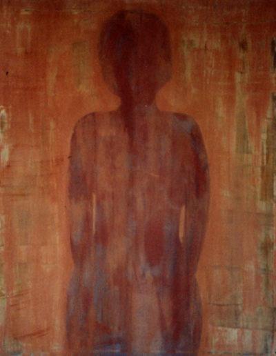 Frau, 100 x 130 , Acryl auf Textil, 1999