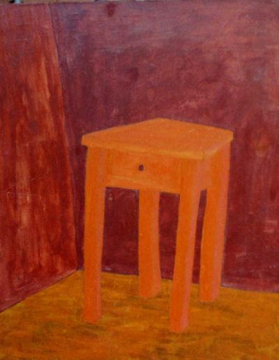 Kleiner Tisch, 100 x 120 , Acryl auf Textil, 1999