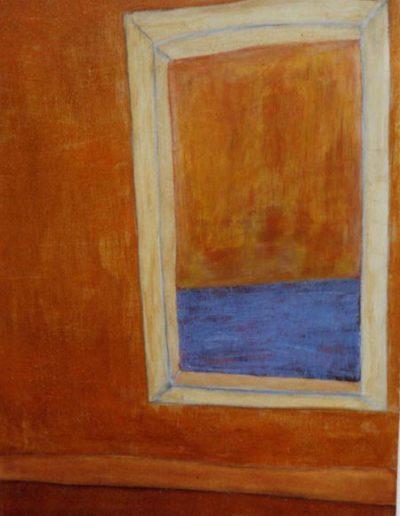 Aussicht, 80 x 110 , Acryl auf Textil, 1999