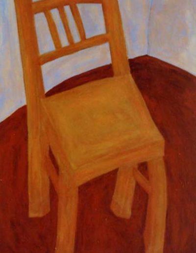Stuhl, 80 x 110 , Acryl auf Textil, 2000