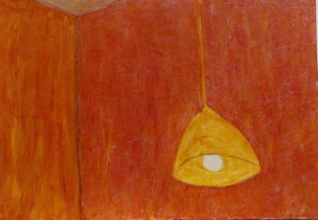 Hängelampe, 80 x 110 , Acryl auf Textil, 2000