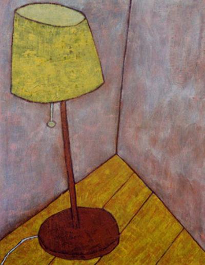 Stehlampe, 80 x 110 , Acryl auf Textil, 2000