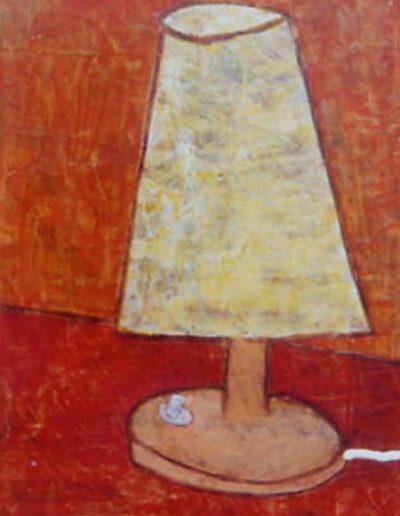 """Tischlampe, 30 x 45 , Acryl auf Hartfaser, 2000"""""""