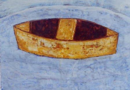 Boot, 25 x 35 , Acryl auf Hartfaser, 2001