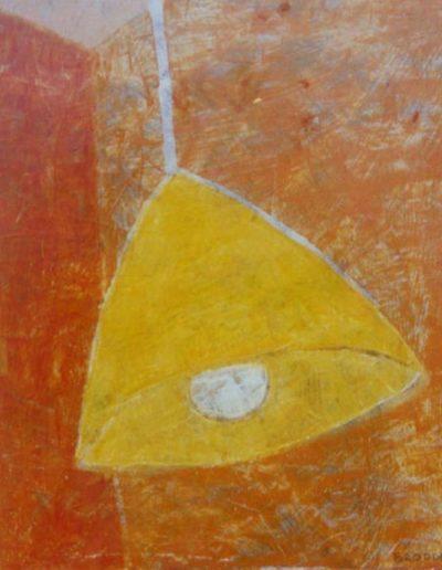 Hängelampe, 30 x 45 , Acryl auf Hartfaser, 2001