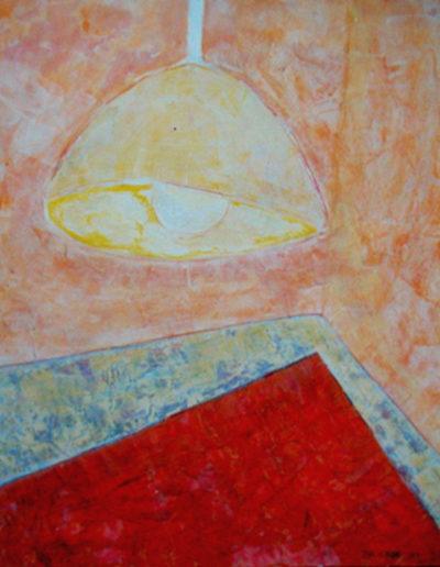 Hängelampe Teppich, 35 x 45 , Acryl auf Hartfaser, 2001