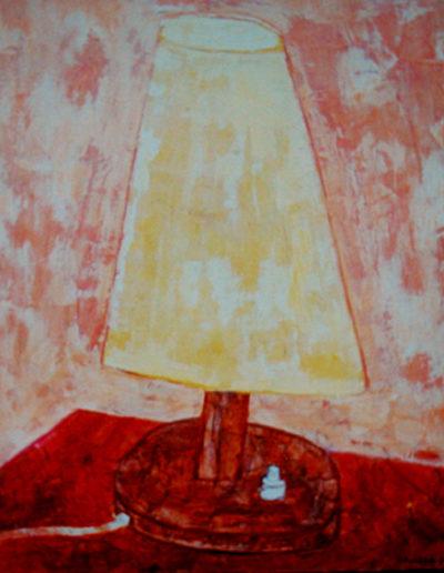 Lampe, 35 x 45 , Acryl auf Hartfaser, 2001