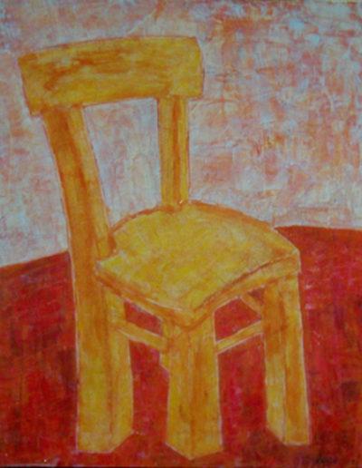 Stuhl, 40 x 60 , Acryl auf Hartfaser, 2001