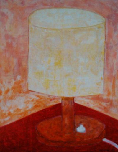 Tischlampe, 35 x 45 , Acryl auf Hartfaser, 2001