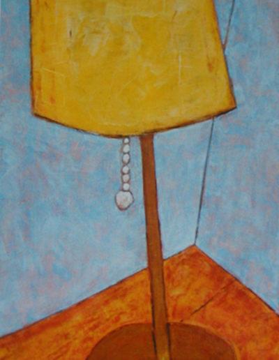 Stehlampe, 50 x 100 , Acryl auf Hartfaser, 2002