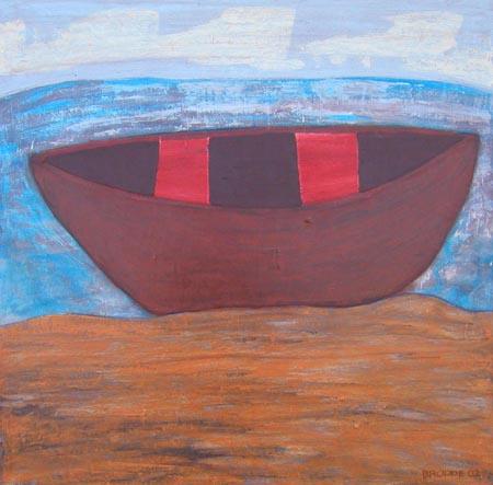 Boot, 100 x 100 , Acryl auf Textil, 2002