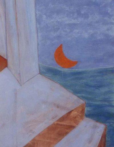 Mond, 80 x 110 , Acryl auf Hartfaser, 2004