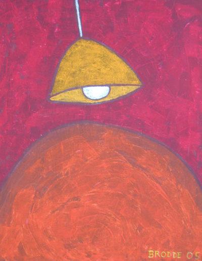 Hängelampe*, 50 x 60 , Acryl auf Textil, 2005